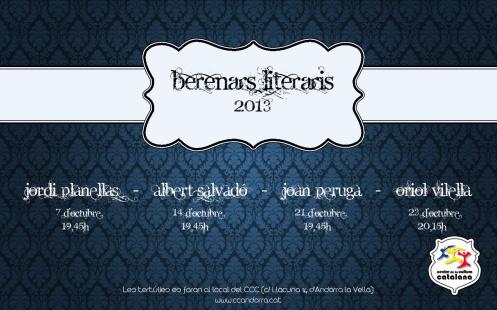 Dilluns dia 7, el primer dels Berenars Literaris amb Jordi Planellas!